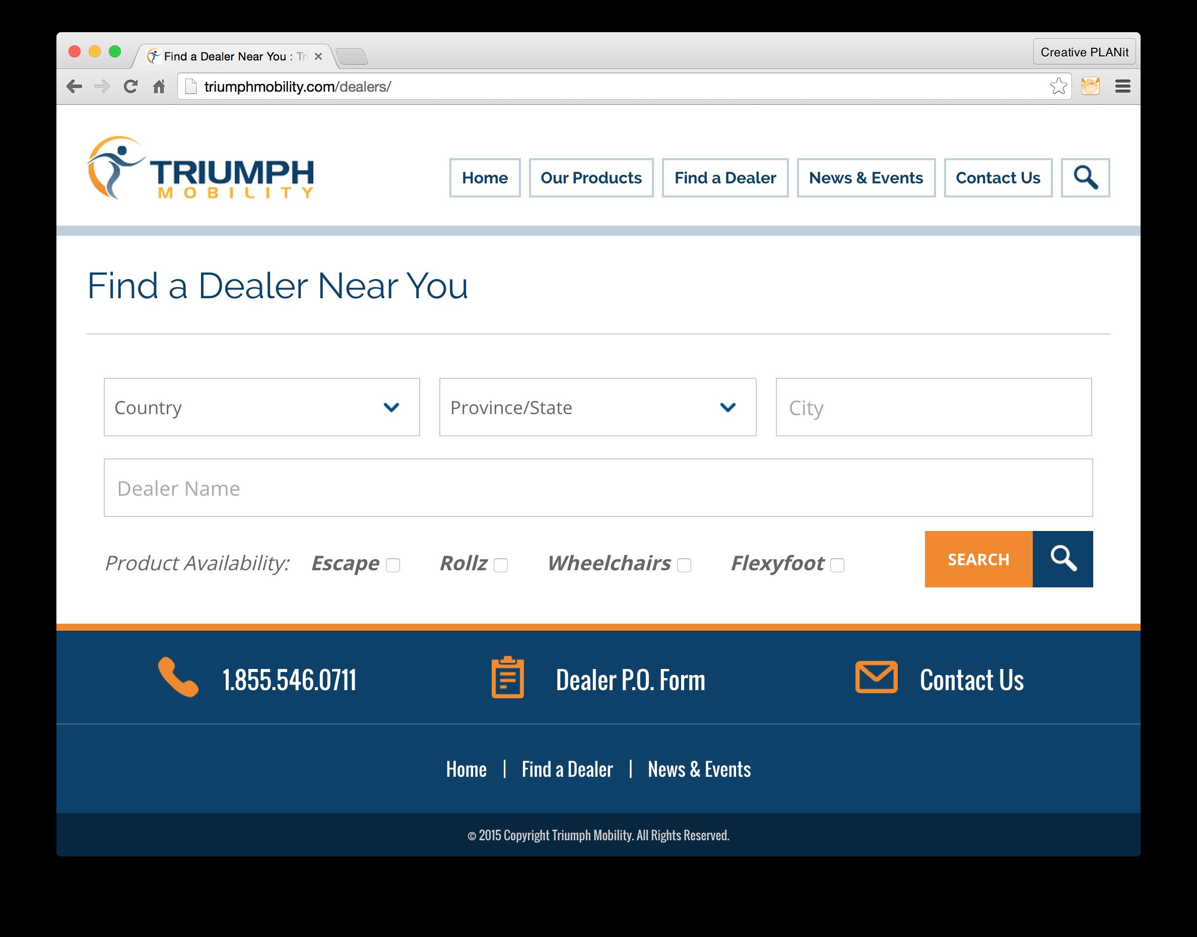 Dealer Search Form