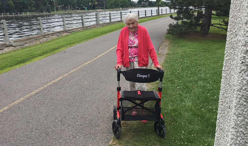 Enjoying the Ottawa Canal with my Escape Walker
