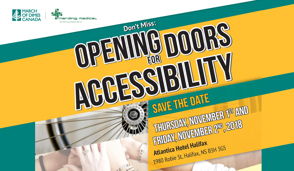 Opening Doors for Accessibility - Halifax November 2018